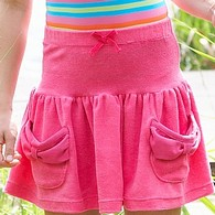 Pink Towelling Skirt for Girls