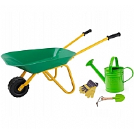Children's Gardening Tools, Watering Can & Wheelbarrow Set