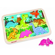 Dinosaurs Chunky Wooden Puzzle by Janod