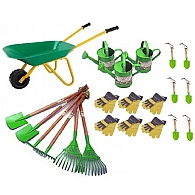 Primary School Garden Tools with Wheelbarrows