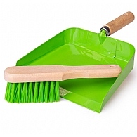 Childrens Dustpan and Brush - Green