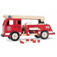 Childrens Wooden Toy Fire Engine
