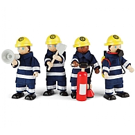 Childrens Wooden Fire Fighters and Accessories