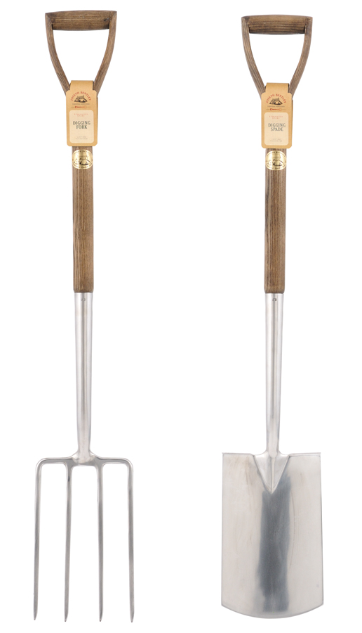 Teachers fork and spade set traditionally made gardening for Garden fork and spade set