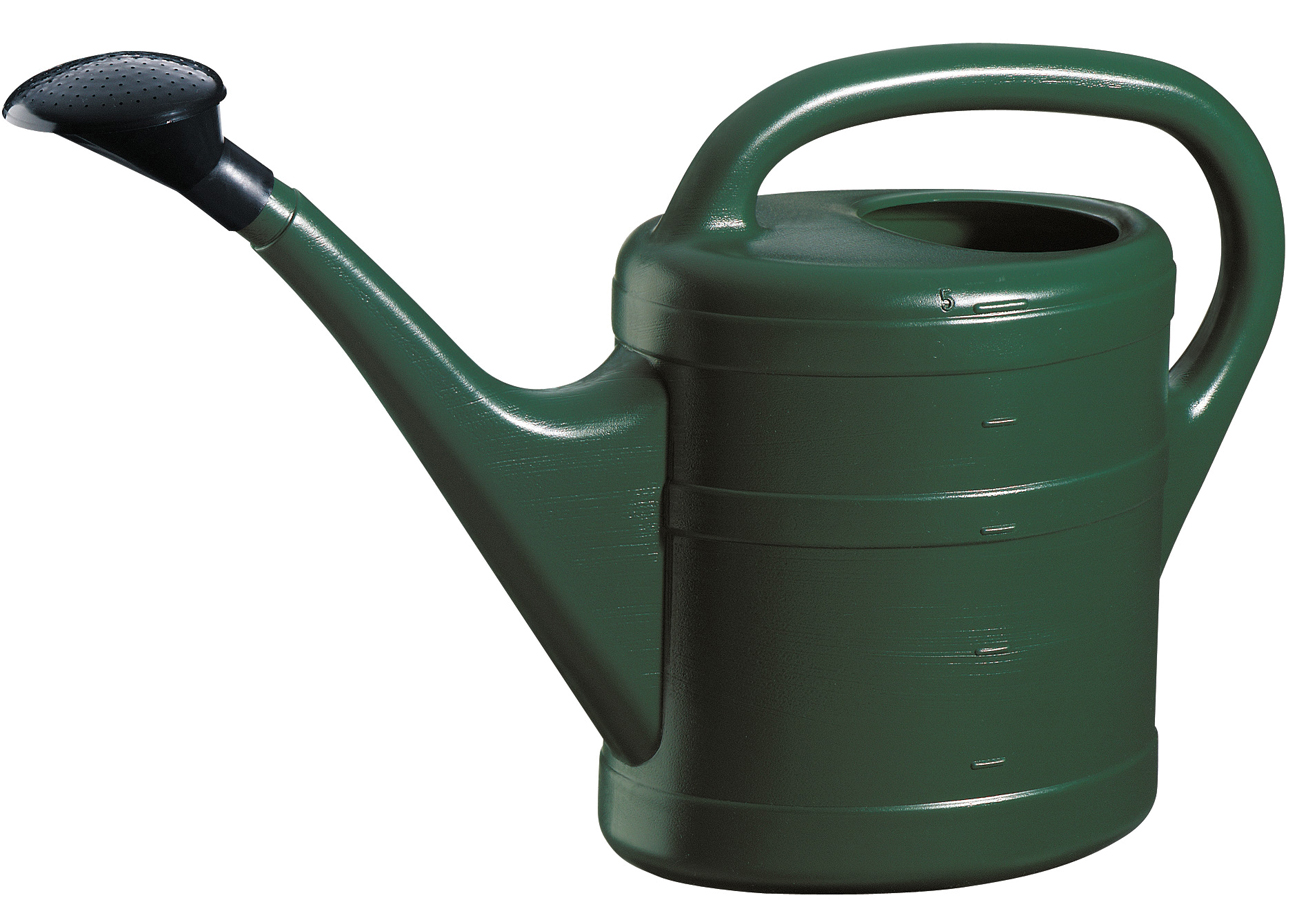 Green plastic watering can - Sprinkling cans ...