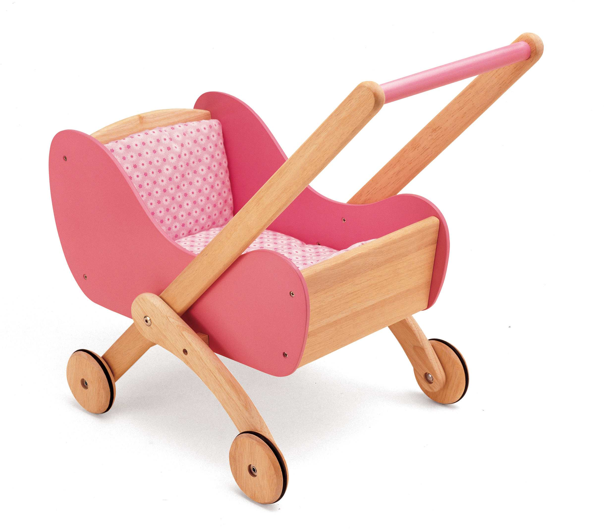 Wooden Doll's Buggy, Wooden Doll Strollers & Prams, Wooden Baby Pram ...