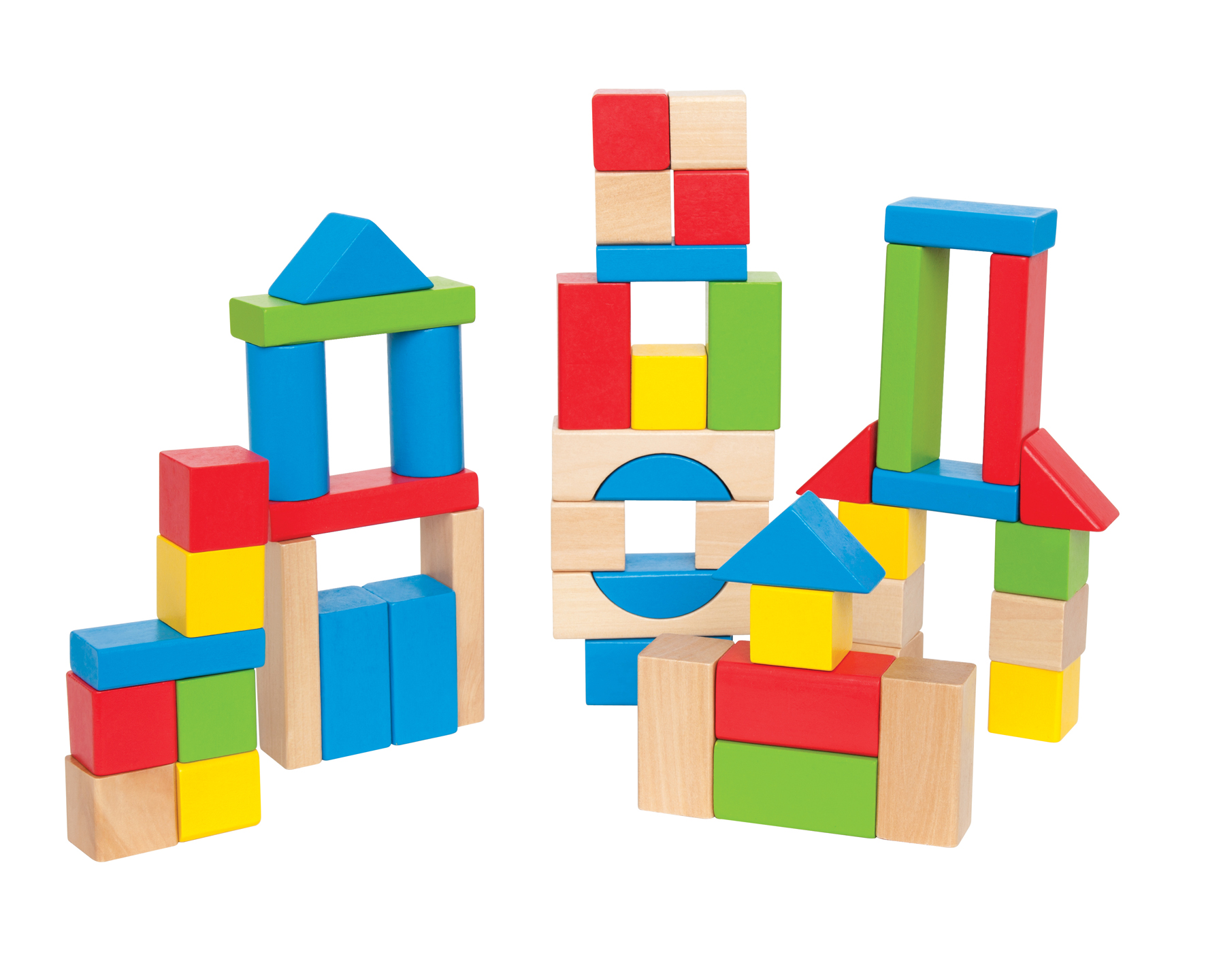 Wooden Blocks For Toddlers ~ Maple piece block set wooden childrens