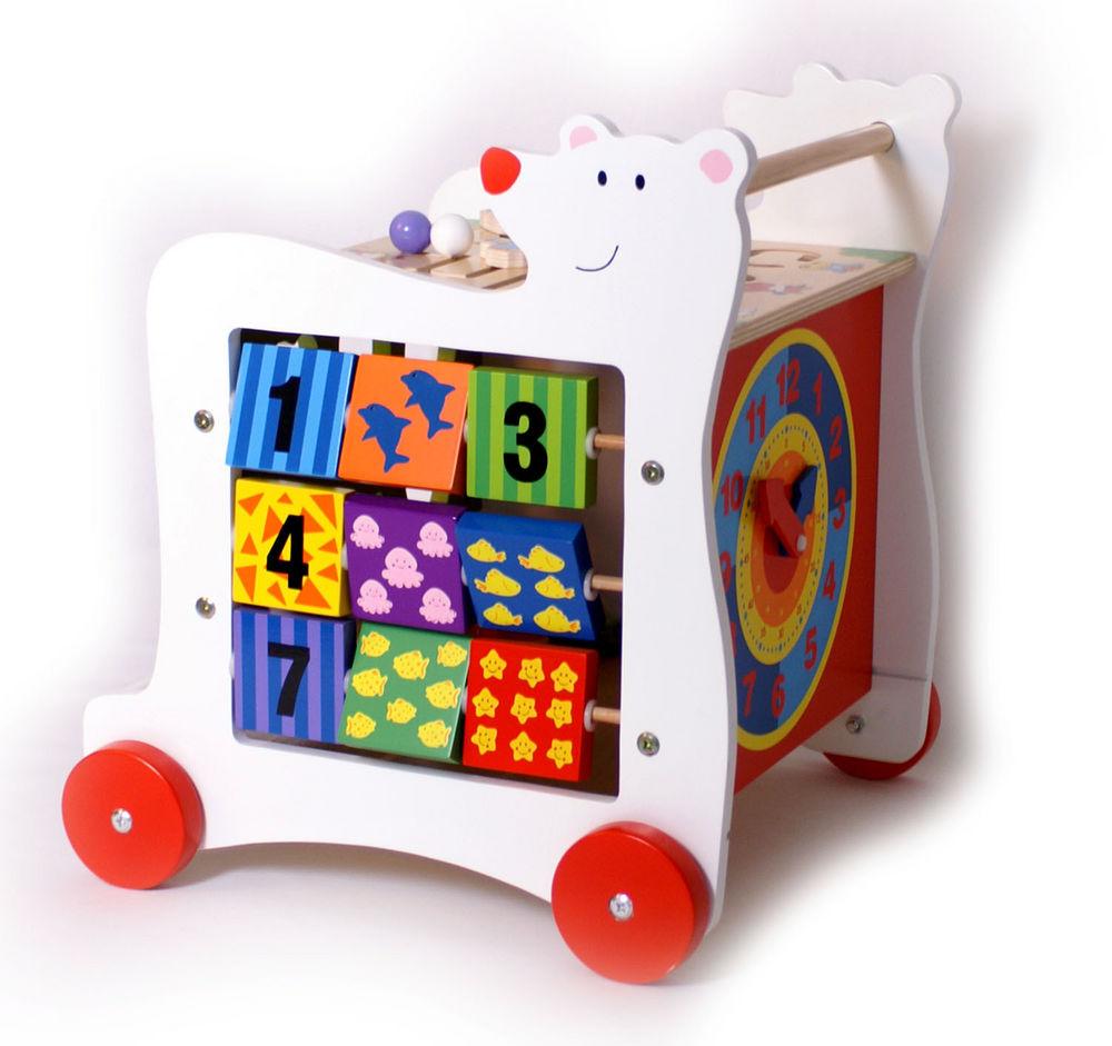 wooden bear activity baby walker. Black Bedroom Furniture Sets. Home Design Ideas