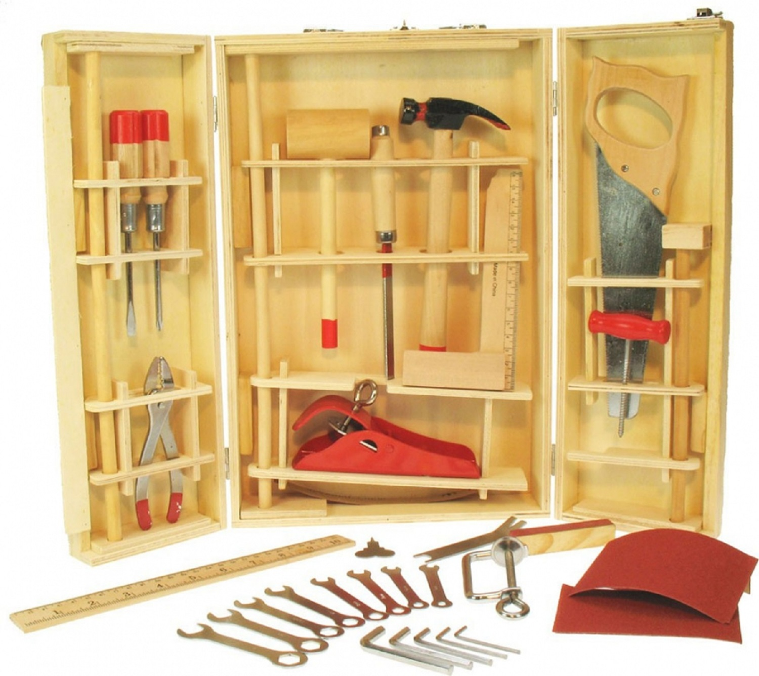 Children's Professional Carpentry Tools, Children's Tool Set, Woodwork ...