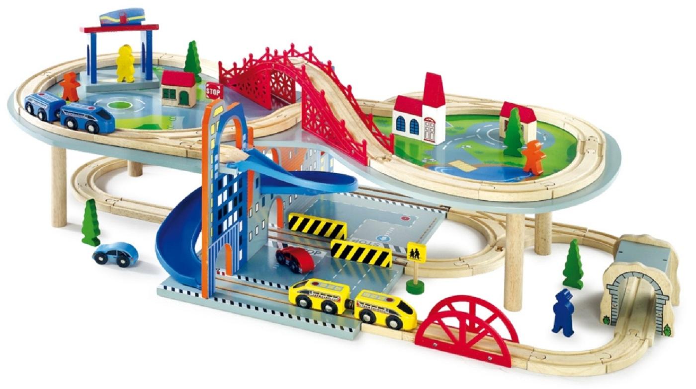 Wooden railway set review black