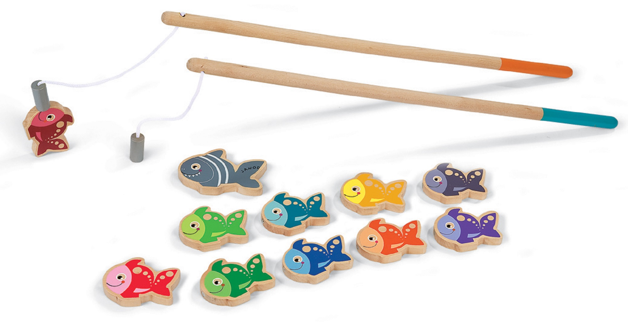 janod let 39 s go fishing game 03062 wooden magnetic