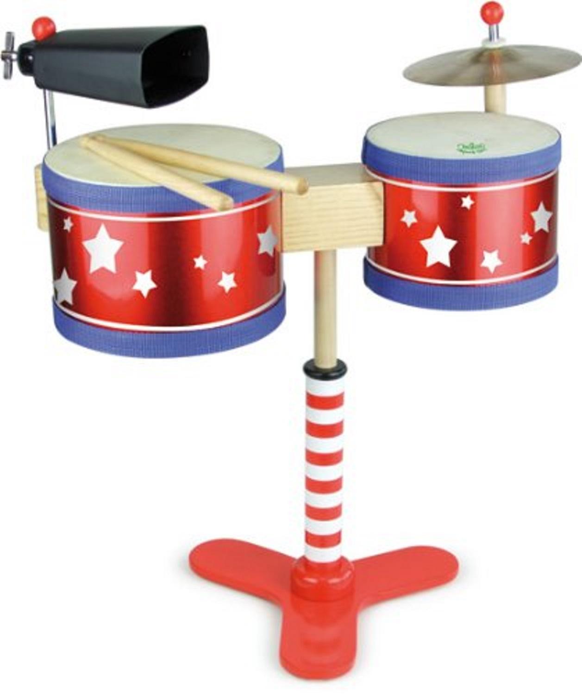 Children S Wooden Drum Kit