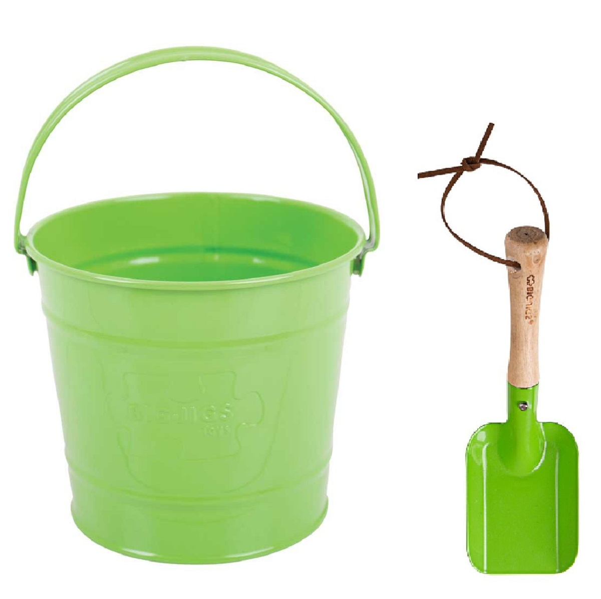 Childrens green bucket and trowel kit gardening tools for for Gardening tools toddlers
