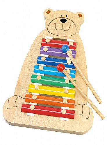 Wooden Musical Toys : Childrens musical bear xylophone kids wooden toy