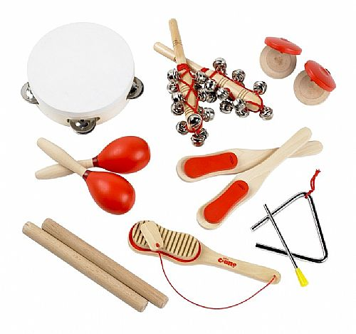 Childrens Wooden Musical Instruments Kids Music Set