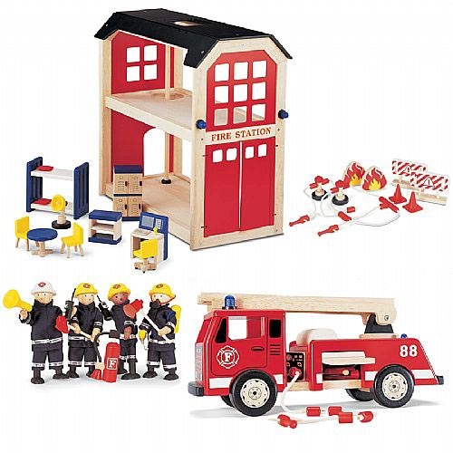 Fire Brigade Model, Fire Station Toys, Toy Fire Engine