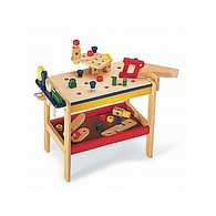Wooden Toy Workbench & Tools