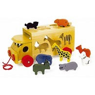 Zoo Wooden Shape Sorter Bus