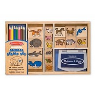 Animal Wooden Stamp Set