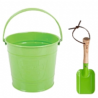 Childrens Green Bucket and Spade Kit