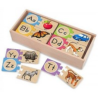 Self-Correcting Wooden Alphabet Puzzles