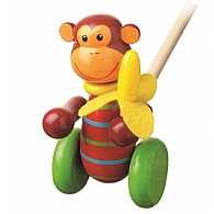 Push Along Wooden Monkey