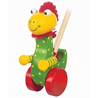 Push Along Wooden Dinosaur