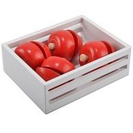 Crate of Wooden Apples