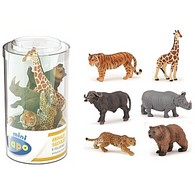 Wild Animal Kingdom Mini Tub Set 2 - 6 Pieces