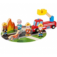 Wooden Mini Playset - Firefighters