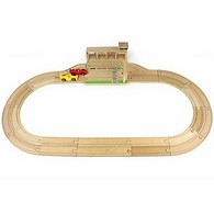 Ikonic Toys Wooden Race Track Set