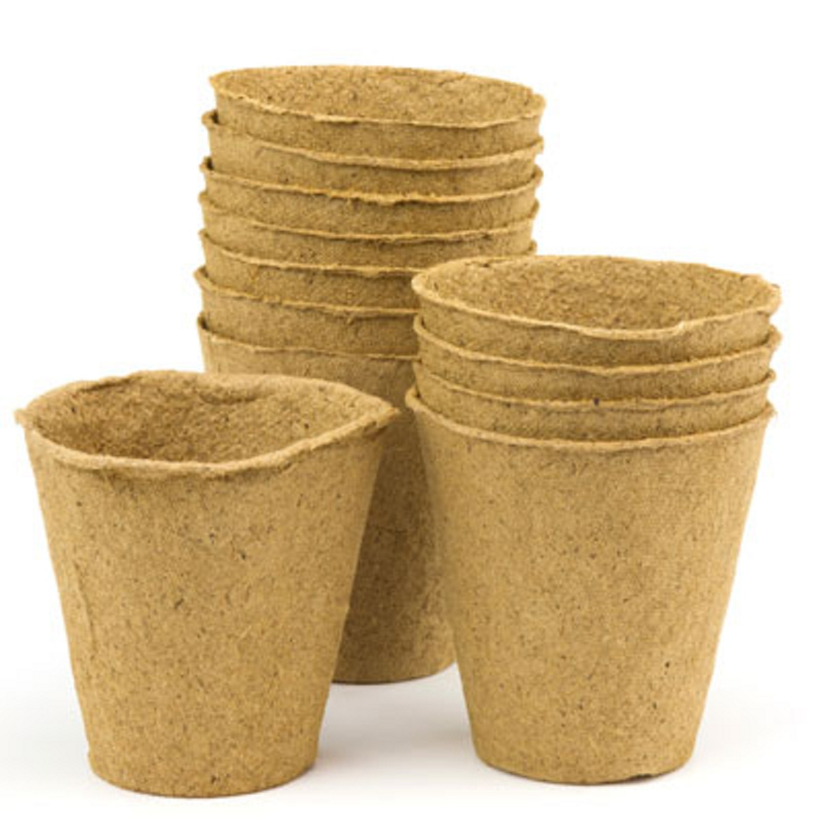 Biodegradable plant pots growing containers for plants for Flower pot out of waste material