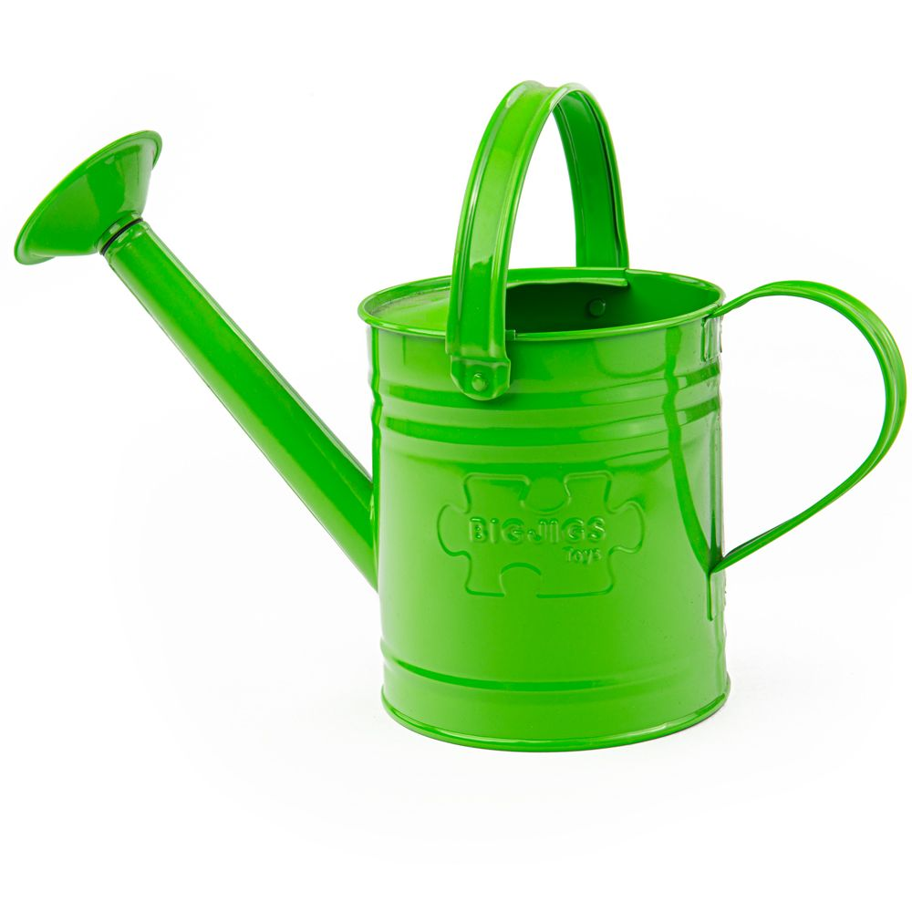 Kids green watering can kids garden tools for Gardening tools toddlers
