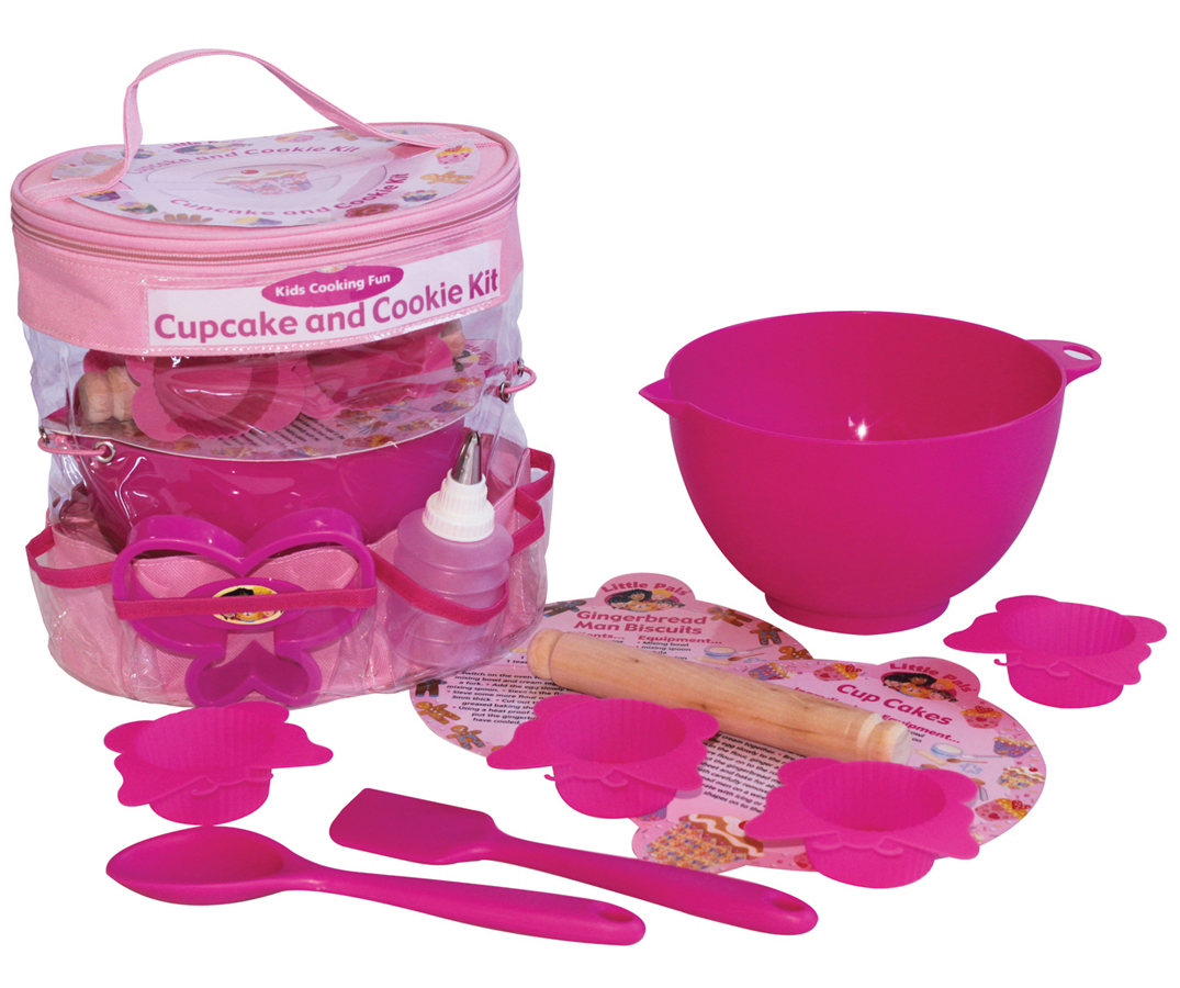 cupcake and cookie baking set for kids cooking gift for girls. Black Bedroom Furniture Sets. Home Design Ideas
