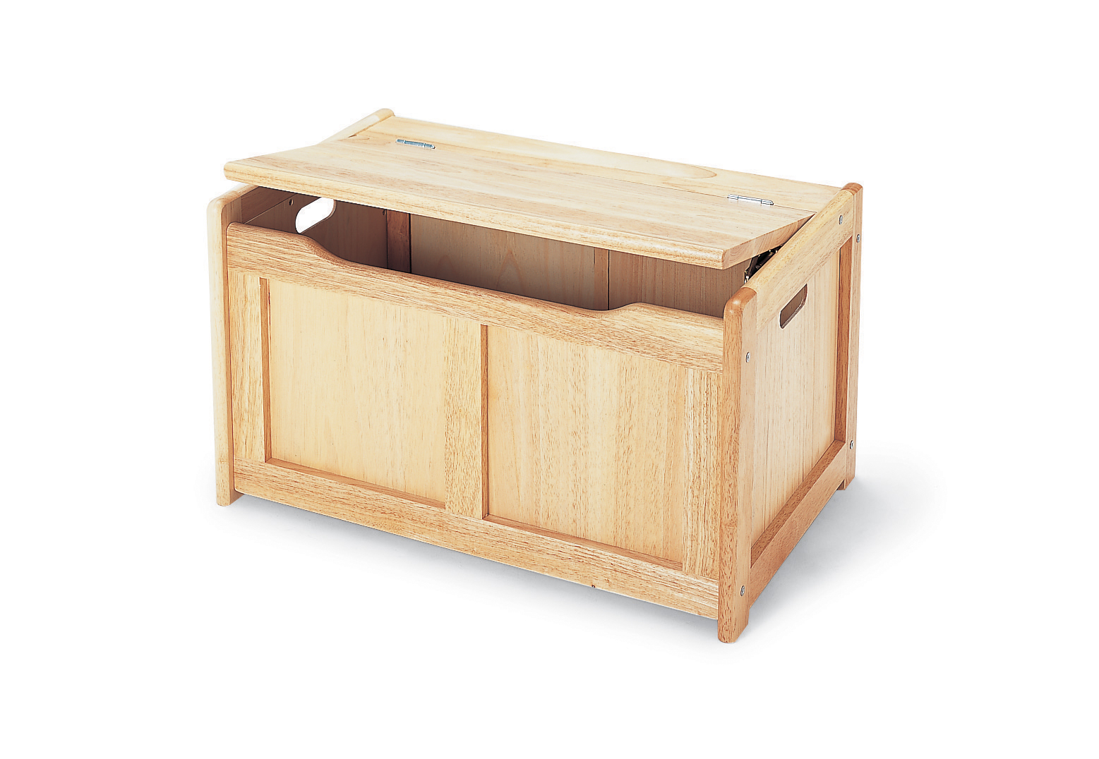 Natural wooden toy chest kids storage