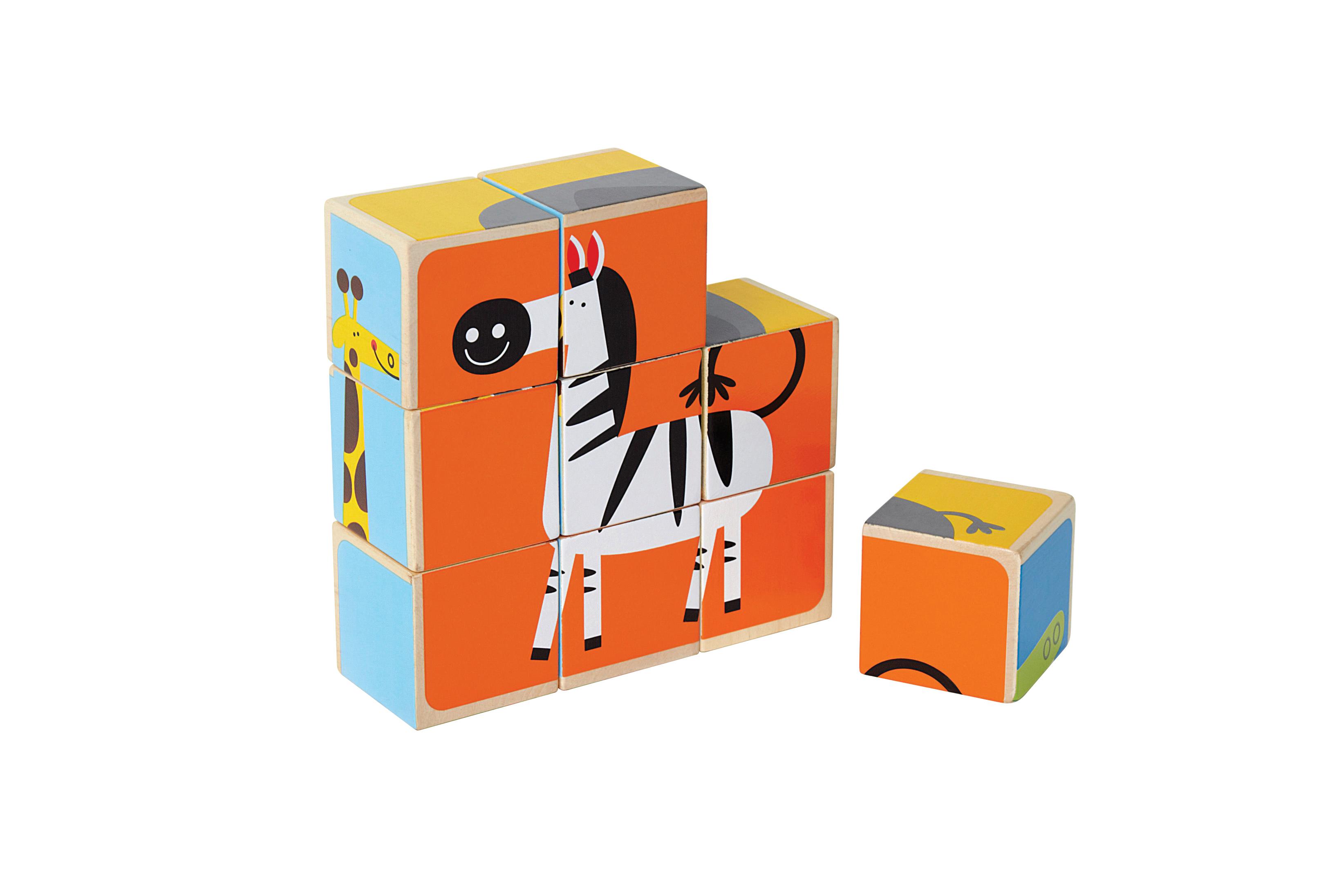 Zoo Animal Block Puzzle, Hape wooden block puzzle, wooden ...