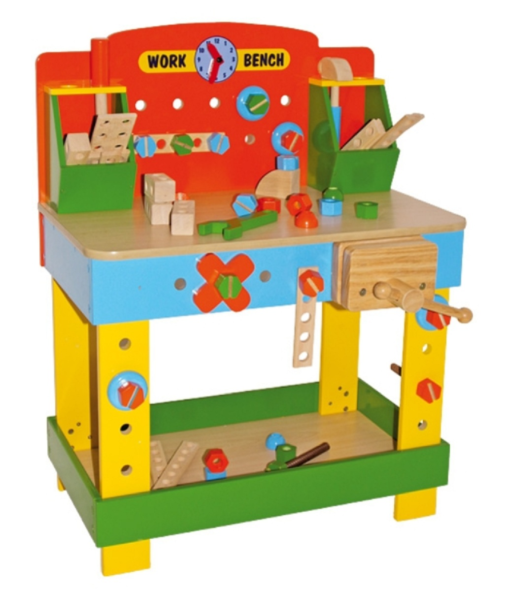 Children 39 S Tobi Wooden Work Bench Wooden Toy Workbench