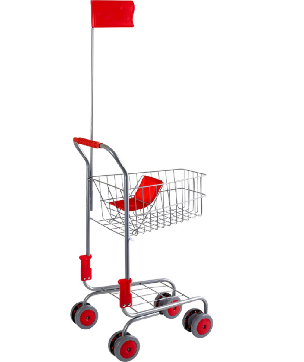 Childrens Silver Shopping Trolley