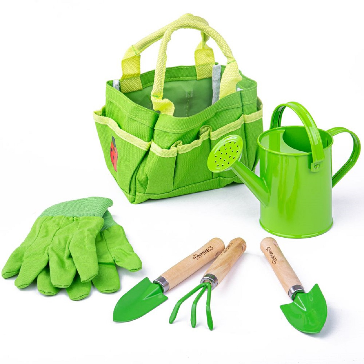Childrens garden tools watering can kit gardening tools for Tools for backyard gardening