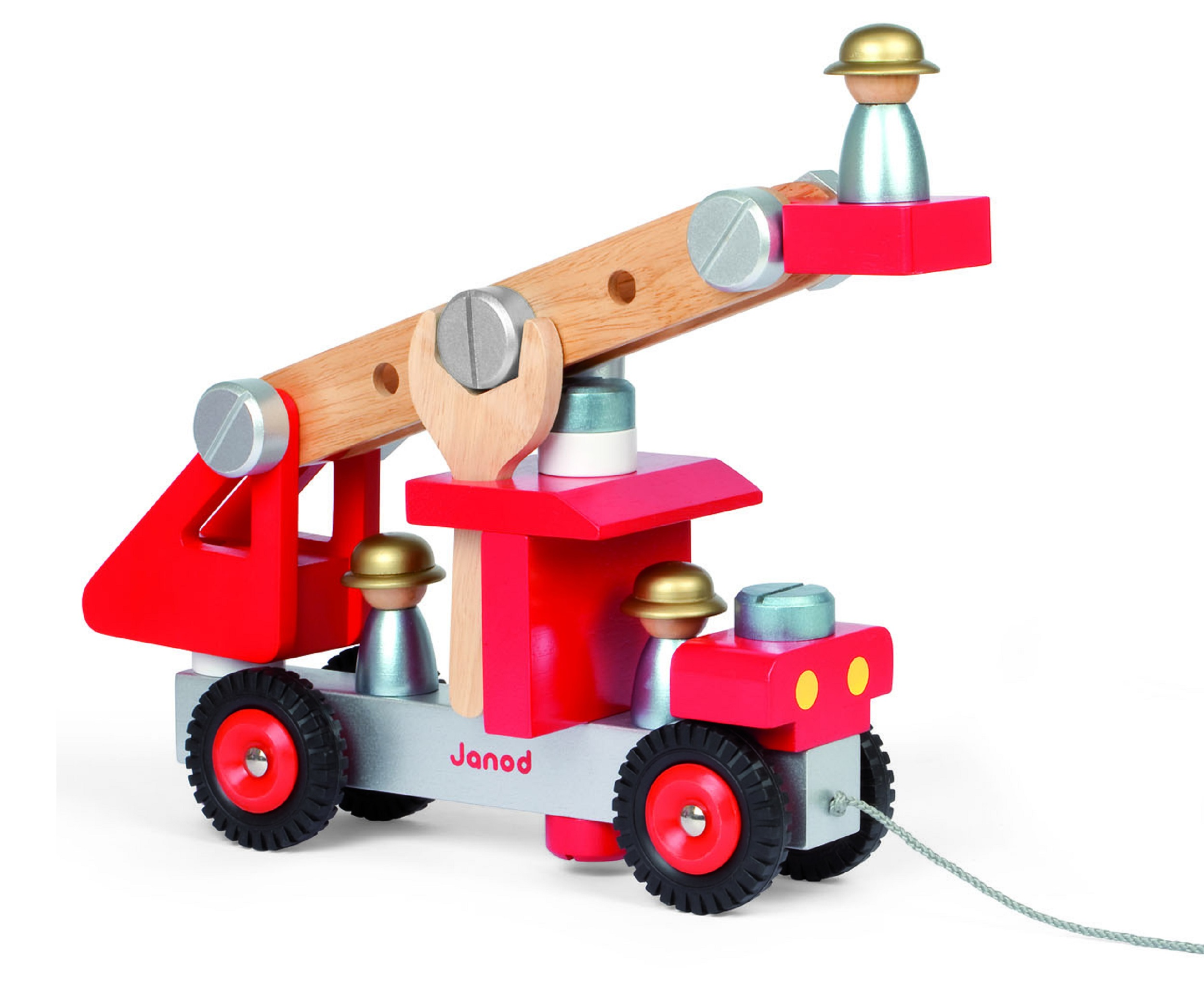 Janod build play fire engine truck