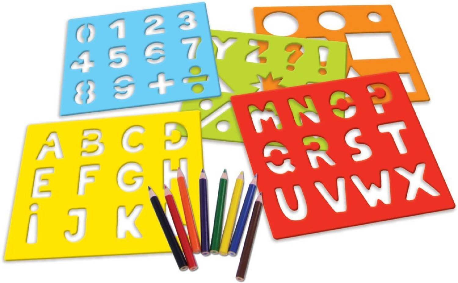Abc numbers wooden stencils in a suitcase vilac 8218 for Large wooden letter patterns