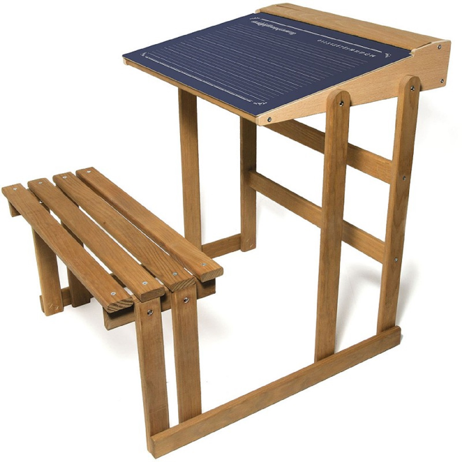 Children s Natural Wooden Desk & Chair