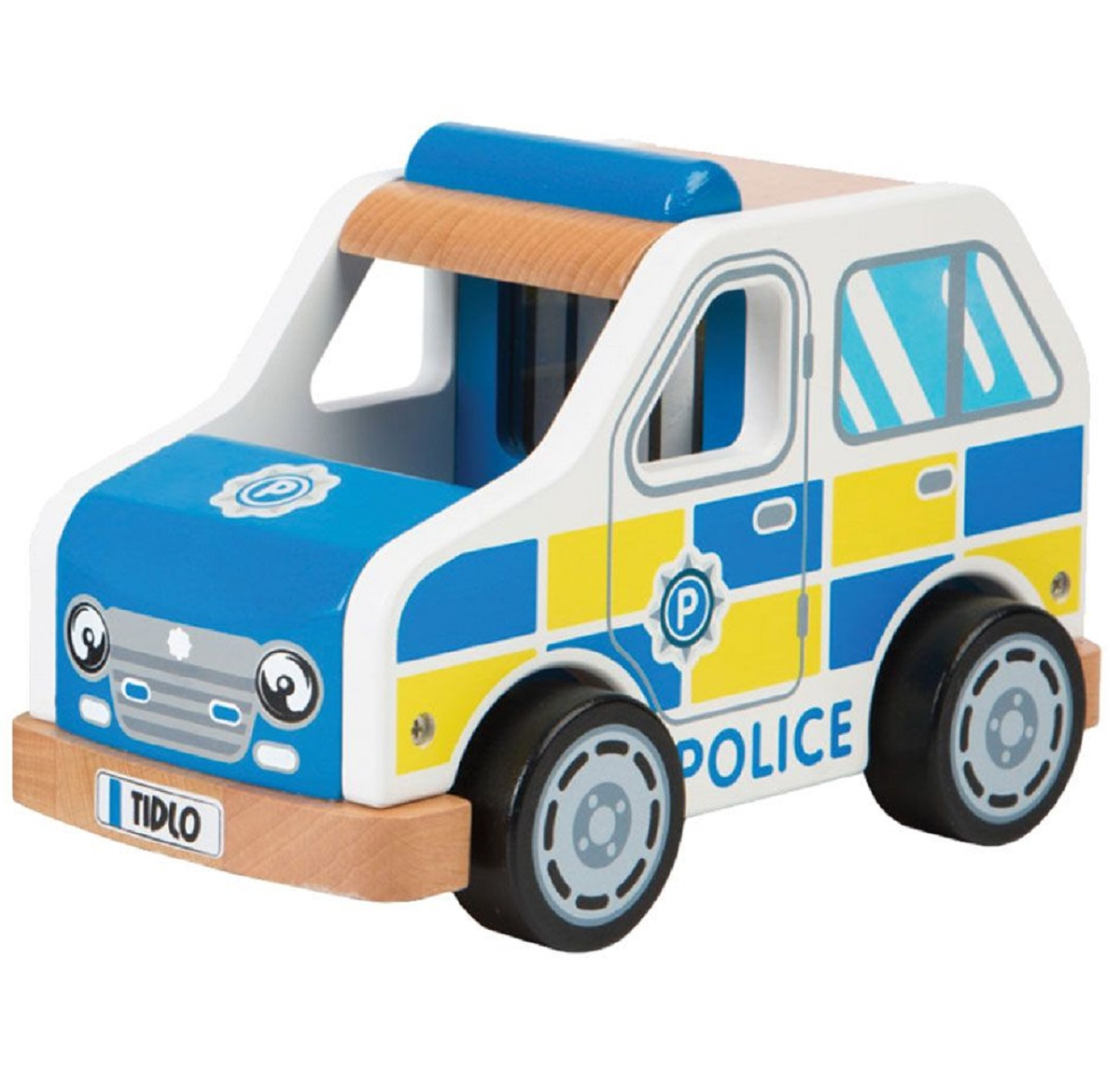 Toy Police Cars : Wooden police car toy toys traditional