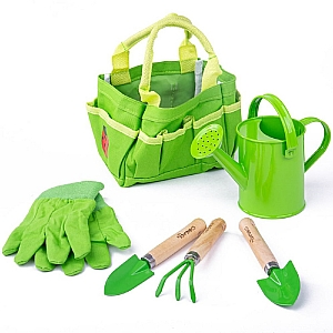 Garden Tote Bag with Tools & Watering Can