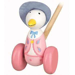 Push Along Wooden Jemima Puddle Duck
