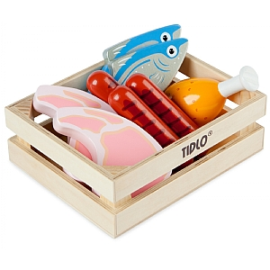 Wooden Meat & Fish Set