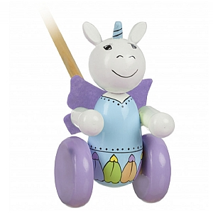Push Along Wooden Unicorn