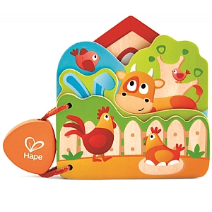 Baby's Wooden Farm Book