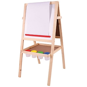 Childrens Easel - Chalkboard & Whiteboard with Paper Rol