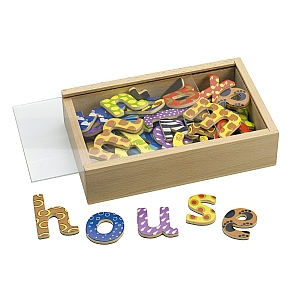 Magnetic Wooden Letters Set